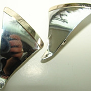 SALE Soren Pederson 14K Gold Sterling Silver Designer Earrings