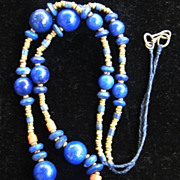 Hand Crafted Lapis Lazuli Red Coral Necklace
