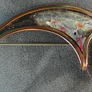Rare Matisse Copper Fish Scales Brooch Pin