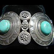 Turquoise Chunk Expandable Bracelet