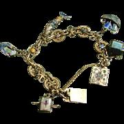 Antique Chinese Enamel Charm Bracelet