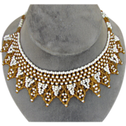 Lovely Vintage Beaded Collar Choker
