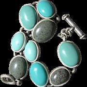 Super Cute Fua Turquoise Chunky Bracelet