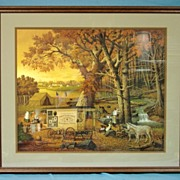 Charles Wysocki Limited Edition Print 1989 The Memory Maker Custom Framed 420/2500  19th Centu