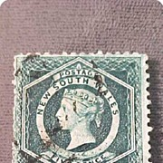 SALE Postage Stamp 1854 New South Wales 5 Pence Dark Green Perf