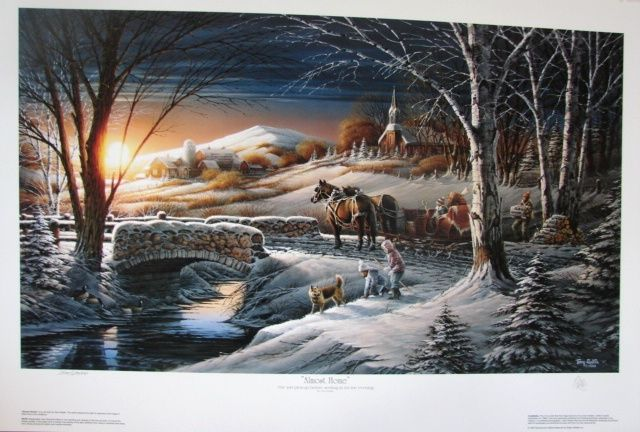 """Terry Redlin """"Almost Home"""" Limited Edition Fine Art Print"""