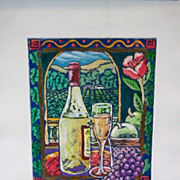 "Stephen Whittle Fine Art Limited Edition Serigraph Textured Print ""Fruit and Wine"" V"
