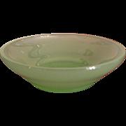 Signed Steuben Jade Nut Dish