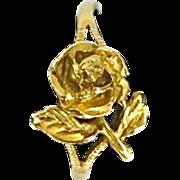 SALE Vintage 14K Gold Rose Ring