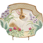 SALE PENDING Fitz and Floyd Botanical Bunny Tray