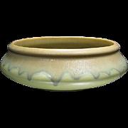 Roseville Carnelian Low Bowl, Excellent Condition