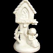 Goebel Angel Playing Mandolin under Shrine Figurine