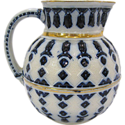 Continental Blue and White 19th Century Pitcher