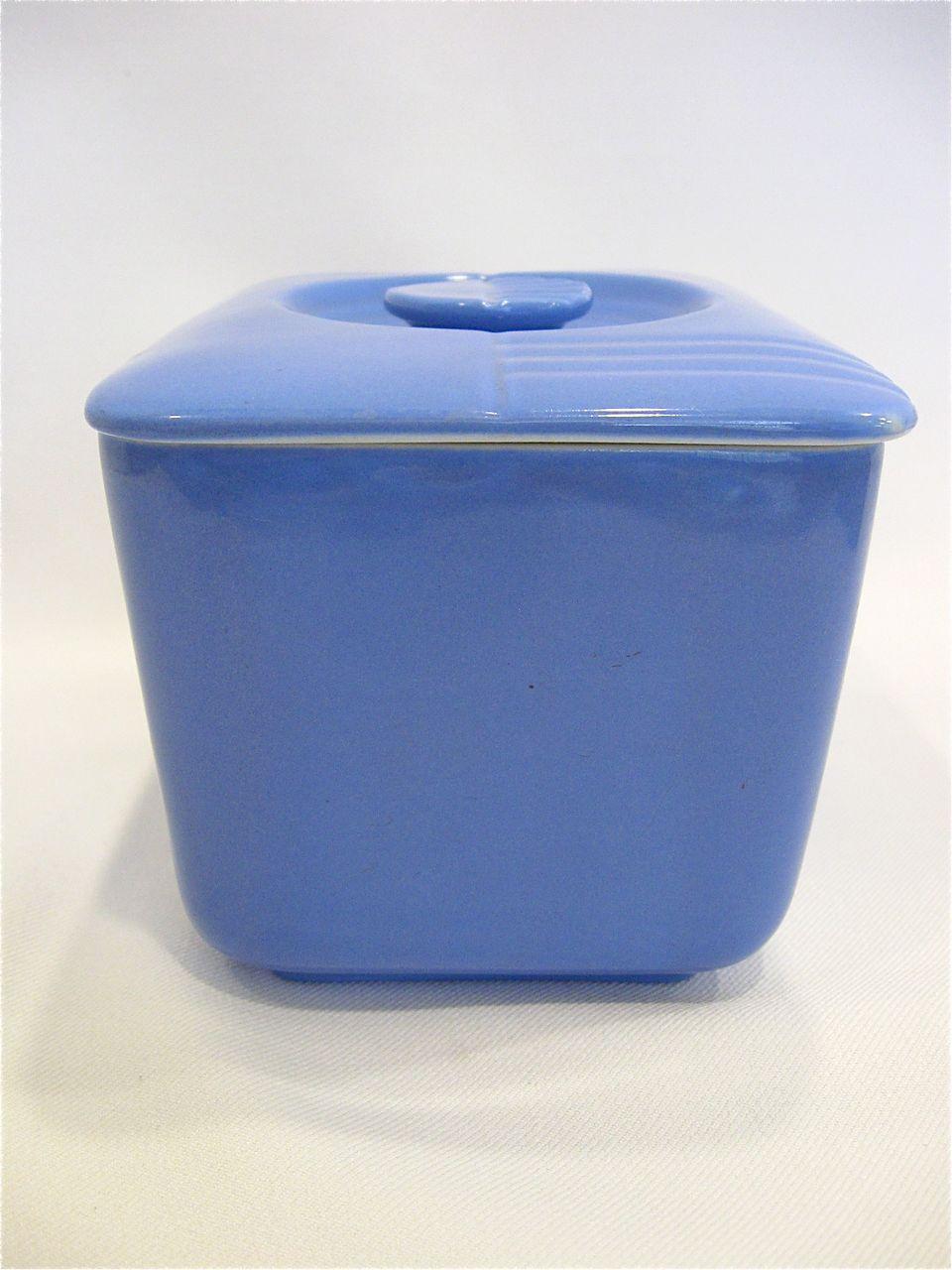 Hall China Westinghouse Blue Refrigerator Leftover Dish