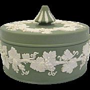 Wedgwood Jasperware Round Box in Sage Green