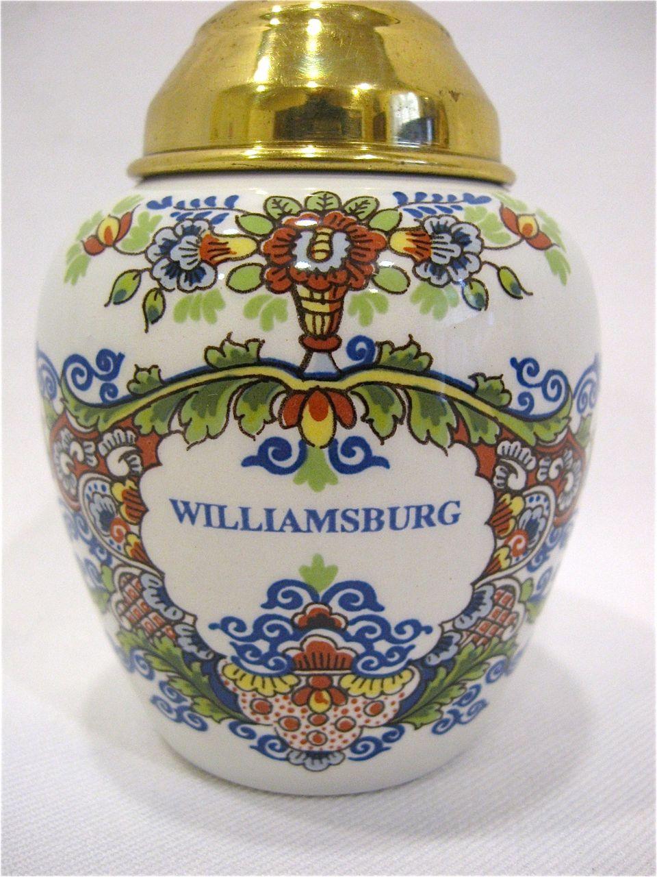 Small Polychrome Delft Williamsburg Tobacco Jar from ...