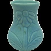 Van Briggle Pottery Turquoise Coneflower Cabinet Vase