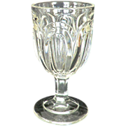 SOLD Flint Glass Seneca Loop Flute Goblet EAPG Stem ca 1850s