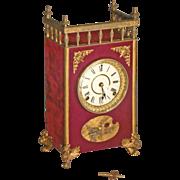 Ansonia Victorian Mantle Clock with Velvet Case