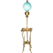 Victorian Brass & Onyx Floor Lamp