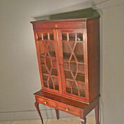Mahogany Chippendale Bookcase, China Cabinet