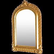 Small Victorian Gold Gilt Mirror