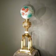 Victorian Brass & Onyx Parlor Lamp