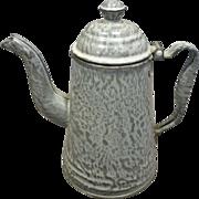 Grey Granite Coffee Pot