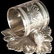 Victorian Silver Plate Napkin Ring, Walter