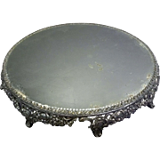 Silver Plate Mirrored Plateau