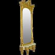 Victorian Gold Leaf Pier or Hall Mirror