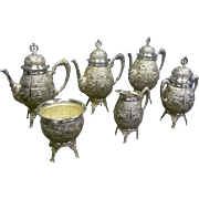 Victorian Silver Plate Coffee and Tea Set