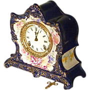 Ansonia Mantle Clock with Royal Bonn Case
