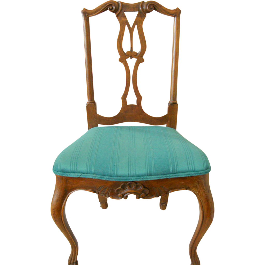 Four Carved Italian Dining Chairs early 20th c.