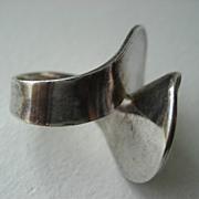 """Vintage Georg Jensen Sterling Silver Ring """"Number 130"""""""