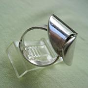 """Vintage Sterling """"Alton"""" Swedish Modernist Ring Signed """"KE PALMBERG"""""""