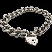 Vintage Hallmarked Sterling Padlock Bracelet