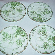 English Semi Porcelain Fruit Plates/ Bread and Butter Plates