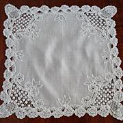 SOLD Vintage Princess Lace Wedding Handkerchief
