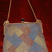 SOLD Vintage Brass Mesh Handbag c1920's