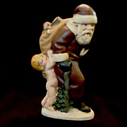 SOLD Walnut Ridge Santa Figurine Signed Kathi Bejma