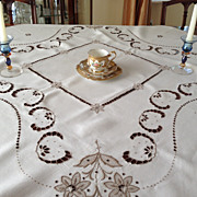 SOLD Madeira Tablecloth