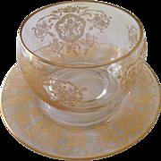 Hand Painted Venetian Glass Bowl