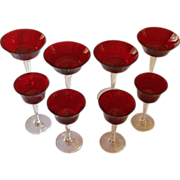 SOLD Ruby Red Depression Glassware
