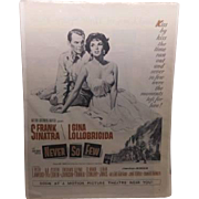 "Movie Poster - Frank Sinatra ""Never So Few"" 1959"