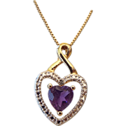 Gold Vermeil & Amethyst Heart Gift Necklace!