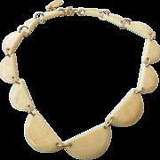 REDUCED Vintage Japanese Casein Necklace, Very Rare Treasure!