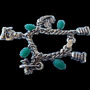 REDUCED Vintage Asian Motif Charm Bracelet, Mid Century