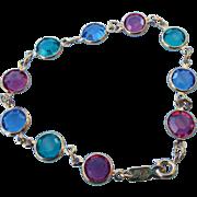 REDUCED Classic 1980s Swarovski Crystal Framed Station Bracelet!