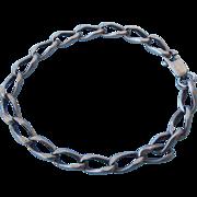 """REDUCED Older Sterling Silver Link Bracelet, 7"""" Long, Great Gift!"""
